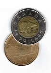 Copper/Silver - Canadian Version (Loonie/Toonie)