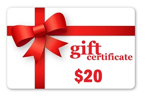 Promotional $20.00 Gift Certificate