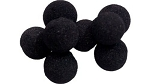 Soft Mini Sponge Balls - Black