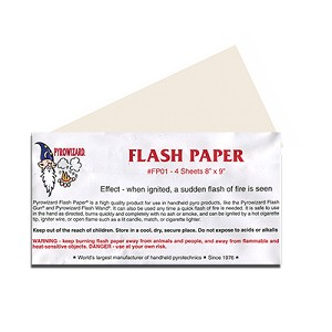 "Flash Paper - 8"" x 9"" - 4 sheets"